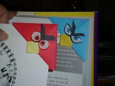 Corner bookmarks I made for November 2011 holiday craft fair