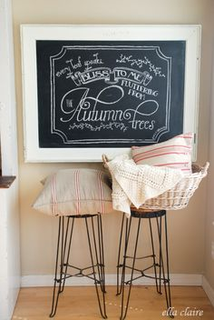 Free printable and template for this adorable chalkboard at ellaclaireinspired.com.