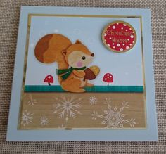 Handmade 5 x 5 Christmas Card by BavsCrafts on Etsy