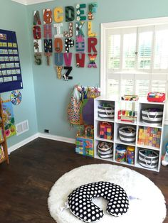 Home daycare room ideas Home Daycare Rooms, Daycare Spaces, Childcare Rooms, Preschool Rooms, Preschool At Home, Toddler Daycare Rooms, Daycare Nursery, Daycare Setup, Daycare Design