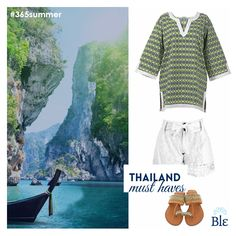 Travelling to Thailand? Take with you light and comfortable clothes for those long hours exploring the natural beauties around you. We suggest pretty shorts, a t-shirt and comfy sandals. Find them here www.ble-shop.com #BleResortCollection #Style #ThailandMustHaves