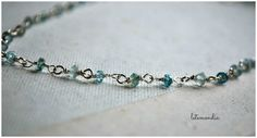 RESERVED FOR MARIE  Aquamarine Boho Necklace  March by letemendia