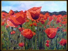 Vlčie maky,70x50 Akryl na plátne. Painting, Art, Art Background, Painting Art, Kunst, Paintings, Performing Arts, Painted Canvas, Drawings