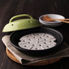 日本進口陶瓷蒸鍋砂鍋 耐熱砂鍋 日式鍋陶瓷鍋具燜鍋帶蒸墊蒸架