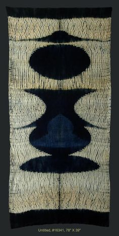 'Untitled 16341' by American fiber artist Frank Connet. hand woven wool, Shibori resist, dyed with natural indigo & walnut. 74 x 39 in. via the artist's site
