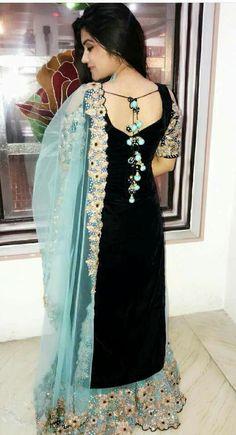 Best 12 Latkan for suits Kurti Back Neck Designs, Neck Designs For Suits, Dress Neck Designs, Salwar Designs, Kurta Designs Women, Embroidery Suits Design, Hand Embroidery, Embroidery Designs, Suit Fashion