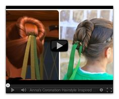 Frozen Inspired Anna's Coronation Hairstyle Tutorial- Cute Girls Hairstyles