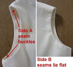 how to get lined or faced arm and neck holes to lie flat. flat seam, sew seam, sewing tips, face arm, sewing lining, neck hole, fashion faces, lay flat, lie flat