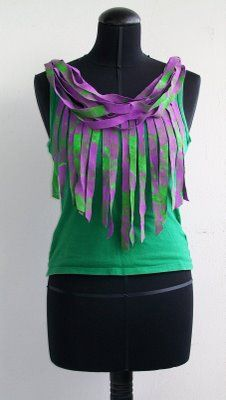 AMOUR FOU: DIY: Shirt With Fringe