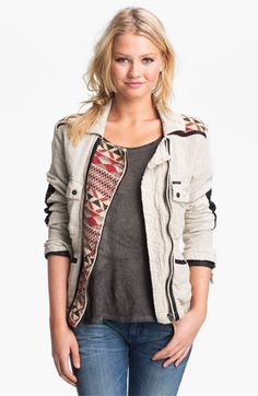this jacket is even more amaze in person! maison scotch leather trim