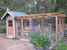 A Chicken Coop that Enhances the Garden. If I had backyard chickens this so would be their coop  LOVE  #gardens #backyard.
