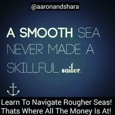 Learn To Navigate Rougher Seas As An Entrepreneur. That Is Where All The Money Is! . . Follow @aaronandshara . Dont be rude type YES Below If You Agree:)! . . Double tap and tag someone you know will benefit! . . #sundayfunday #money#makemoney#moneymaker#moneyteam#makemoneyonline#getmoney#moneymotivated#cashmoney#moneyonmymind#moneytalks#savingmoney#timeIsMoney#makemoneynow#moneymotivation#getrich#entrepreneur#entrepreneurship#Entrepreneurlife#entrepreneurlifestyle#entrepreneurial#Entrepr...