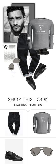 """""""Friday"""" by zaful-men ❤ liked on Polyvore featuring DUO, Vilebrequin, Tod's, men's fashion, menswear and black"""