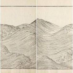 Waves and ripples 〰️〰️〰️Ha Bun Shu by Mori Yuzan #heatherloves #designinspiration #wavesandripples
