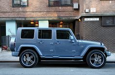 Killer-looking Wrangler. Has a total G-Wagen vibe going on. The Effective Pictures We Offer You About cars night A quality pi Blue Jeep Wrangler, Jeep Rubicon, Jeep Jk, Jeep Wrangler Unlimited, Jeep Wranglers, Jeep Truck, Ford Trucks, Badass Jeep, Trucks