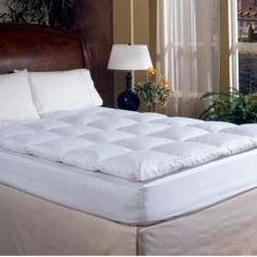 Overfilled Baffle Box Featherbed | Overstock.com Shopping - Great Deals on Down Featherbeds