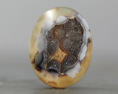 In my hands, a dragon's egg - Geode Rock Hunting, Dragon Egg, Honey Brown, Love Rocks, Gems And Minerals, Geology, Snow Globes, I Am Awesome, Eggs