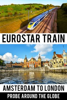 Amsterdam to London by Eurostar direct train. Ride in 4 to 5 hours from the Netherlands to London. Check all my tips about this alternative to flying European Travel Tips, Europe Travel Guide, European Destination, Backpacking Europe, Travel Guides, Travel Destinations, Traveling Europe, Europe Budget, Europe Packing