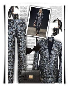 """The Pantsuit"" by bliznec-anna ❤ liked on Polyvore featuring Mary Katrantzou, La Perla, Dolce&Gabbana, Gucci, marykatrantzou, polyvorefashion and thepantsuit"