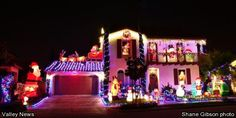 PHOTOS: Home Christmas Light Displays Around the Valley - Shane Gibson photo. - Shivering snowmen among many other Holiday characters are on display at this Harveston home located at 28851 Springfield Place in Temecula.