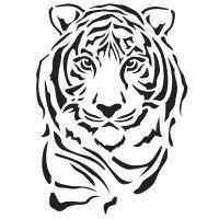 Laser-Kunststoff-Schablone, Din A4, Tiger