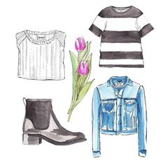 Good objects - Acne Studios obsession @acnestudios #denimjacket #boots #tulips…