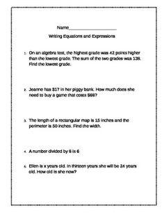 6th Grade Math Worksheets: Exponents