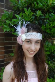 Couture Baby Headband Girl Ivory Couture by Anjehletreschic, $15.99