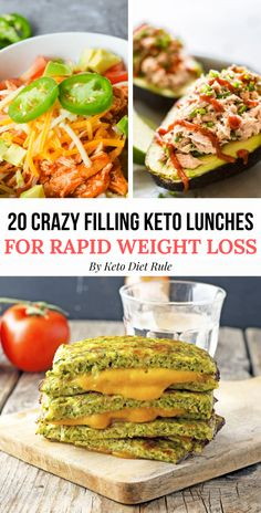 20 crazy filling and delicious protein-packed keto lunches for rapid weight loss and ketosis. These delicious and healthy keto lunch recipes are perfect to take to work everyday. Diet Dinner Recipes, Keto Lunch Ideas, Lunch Recipes, Diet Recipes, Healthy Recipes, Clean Eating, Healthy Eating, Best Diet Plan, Weight Loss Smoothies