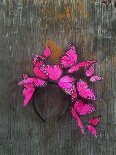 Rosa mexicano de la mariposa monarca corona por VivaDelfina en Etsy