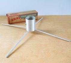 Vintage Aluminum Christmas Tree Holder  Mid by lisabretrostyle2