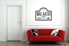 Beach Access Multi-Colored Wall Decal Great For Home