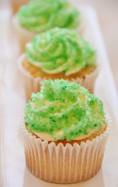 Cupcakes with Homemade Sprinkles