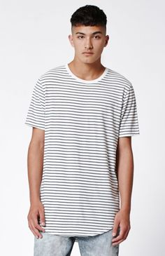 08054931 Hooked on Pilsner Striped Scallop T-Shirt that I found on the PacSun App  Scallops