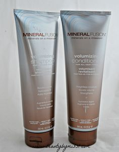 Mineral Fusion Volumizing Shampoo & Conditioner review via @beautybymissl  #haircare #crueltyfree #beauty #review