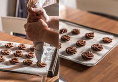 rosas de galleta de chocolate