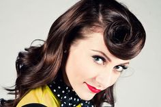 I love Karmin (youtube them, she does some pretty stinkin sweet covers), but what I really love is her throw back style clothes and hair. The suicide roll, oh to be so daring. Maybe I'll try it next time we go out...