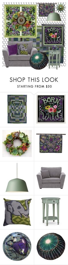 """""""Born to Be Wild"""" by shannon-brennan ❤ liked on Polyvore featuring interior, interiors, interior design, home, home decor, interior decorating, nanimarquina, Cost Plus World Market, NOVICA and Muuto"""
