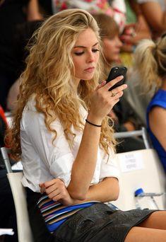 Curly Hair. Tamsin Egerton English actress.