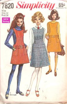 1960s Vintage Sewing Pattern Jumper Simplicity 7820  by TenderLane, $8.00, I had this pattern!