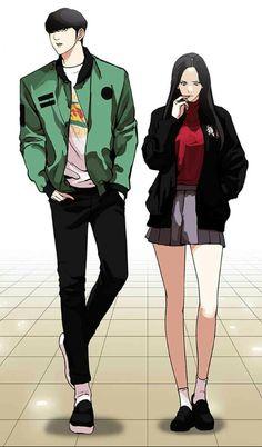 Lookism Funnel Cake 4 h funnel cake Anime Couples Manga, Cute Anime Couples, Anime Manga, Anime Art, Anime Boys, Lookism Webtoon, Webtoon Comics, Park Hyung Seok, Manga Books