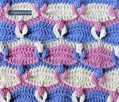 Crochet Loop Stitch Tutorial - (mypicot) ~ k8~