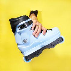 "Them Skates/ Create Originals/Dead 908 Alex Broskow ""Powder"" Pro Complete Set Up Aggressive Skates, Air Max Sneakers, Sneakers Nike, Quad Skates, Inline Skating, By, Roller Skating, Nike Air Max, Rollers"