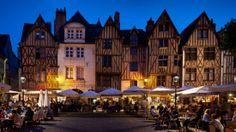 France, Centre, Tours, Loire Valley, Cafes At Place Plumereau - eStock