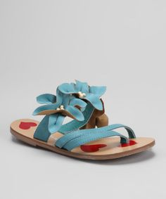 Take a look at this Turquoise Glistin Sandal by Dotty Shoes on #zulily today!