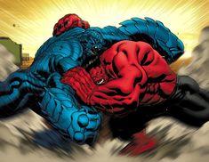 Red Hulk meets A Bomb by EdMcGuinness on DeviantArt Hulk Marvel, Hulk Comic, Marvel Heroes, Comic Art, Spiderman, Marvel Comic Character, Comic Book Characters, Marvel Characters, Comic Books