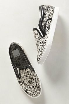 Spotted Calf Hair Slip-Ons #anthropologie
