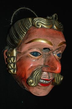 AUTH Guatemalan DaNcE Mask: VAQUERO, Cowboy, Mayan FINE ART (REDUCED PRICE!!!) | eBay