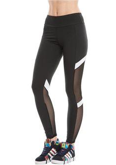 29decac3c032f2 Women Yoga Leggings Active Mesh-Insert Stretchy Workout Gym Sports Pan –  Ayliss #leggings