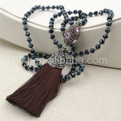 WT-NV130 Amazing Wholesale Tassel Bead NecklaceMix color